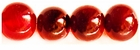 Red Horn Round Beads 12mm