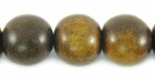 Burnt Horn Round Beads 12mm