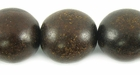 Burnt Horn Round Beads 15mm