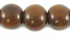 Golden Horn Round Beads 15mm