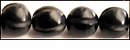 Black Melon Shape Horn Beads 12mm