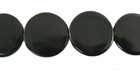 Black Horn Disc Side Drilled Beads 20mm