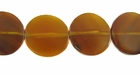 Golden Horn Disc Side Drilled Beads 20mmx7mm