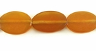 Golden Horn Flat Oval Beads 12x16mm