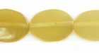 Golden Greyhorn Flat Oval Beads 12x16mm
