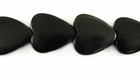 Black Horn Heart Beads 15mm