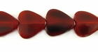 Red Horn Heart Beads 15mm