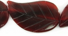 Red Horn Leaf Beads 26x42mm