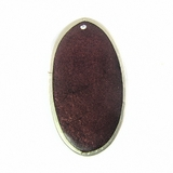 Plum Oval Capiz Shell With Frame