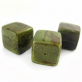 Green Cube Banana Bark Inlaid Beads
