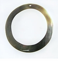 Blacklip Shell Hoop Pendant 45mm