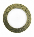 Metalcast Brass Hammered  O'Ring Pendant