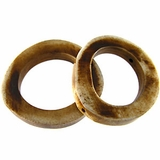 Antiqued Tea-dyed Bone Ring Beads 38mm