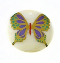 Makabibi Round Painted Embossed Butterfly 35mm