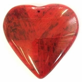Red Heart Banana Bark Inlay Pendant