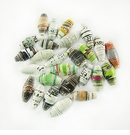 Assorted Mini-Bicone Paper Beads 4x9-10mm