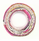 Paper Beads Donut Multi Color 34mm