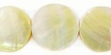 Coin Mother Of Pearl Shell Beads 20mm