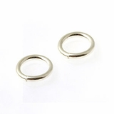Sterling Silver Jump Ring 7mm, Closed Ring