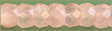 Rose Quartz Rondelle Faceted Beads 8mm