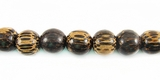 Round Old Palmwood Beads 6mm
