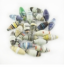 Assorted Bicone Paper Beads 8-10mmx20-28mm