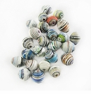 Assorted Saucer Paper Beads 6-10mm