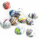 Rainbow Colored Bicone Paper Beads