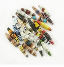 Assorted Elongated Paper Beads 8x26-28mm