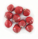 Red Bicone Paper Beads 6-10mm