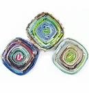 Multi Color Diamond  Pendant Paper Beads  22x22-25mm