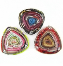 Multi Color Triangle Pendant Paper Beads  22x22-25mm