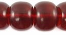 Clear Lava Red Roundel  Amber Resin Beads
