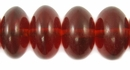 Clear Lava Red Saucer Amber Resin Beads