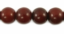 Burnt Umber Round Amber Resin Beads