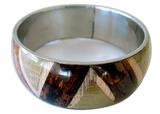 Bangle With Banana Bark Inlay