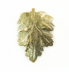 "Gold Shade Electroplated ""Chrysanthemum Leaf"" Pendant"
