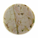 Greenshell Round Cracking Pendants