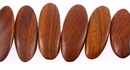 Bayong Tapered Oval Wood Beads