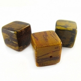 Yellow Cube Banana Bark Inlaid Beads