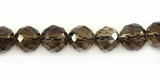 Smoky Quartz Faceted Round Beads 8mm