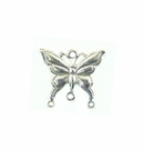 Metal Casted Butterfly Design Antique Silver  23x17mm