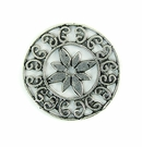 Metalcast Antique Silver Round Flower Pendant