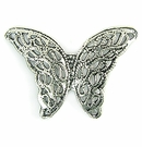 Metalcast Antique Silver Butterfly Pendant