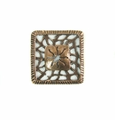 Metalcast Copper Diamond Web Design Charm