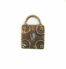 Metalcast Copper Square Lock Charm