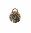 Metalcast Copper Round Lock Charm