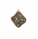 Metalcast Copper Diamond Hammered Charm