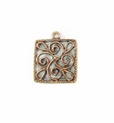 Metalcast Copper Square Pendant