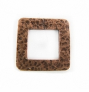 Metalcast Copper Hammered  Square Pendant